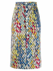 Simon Miller printed pencil skirt - Neutrals