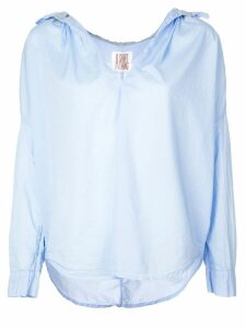 A Shirt Thing Frill collar open neck shirt - Blue