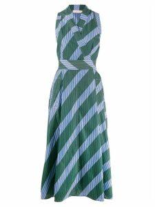 Tory Burch striped wrap-style dress - Blue