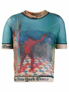 Ottolinger fitted mesh T-shirt - Blue