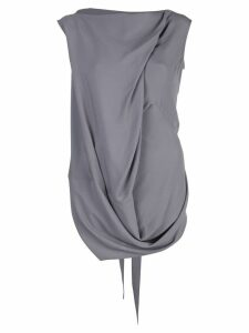 Rick Owens draped tank top - Grey