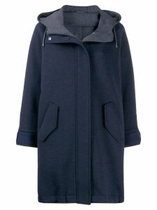 Brunello Cucinelli hooded winter coat - Blue