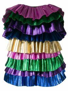 Attico strapless shift dress - PINK