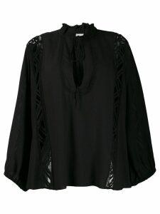 IRO lace panel blouse - Black