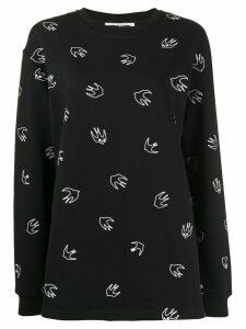 McQ Alexander McQueen bird print sweater - Black