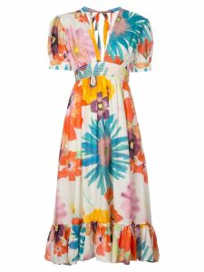 Carolina K Gardenia floral print dress - Multicolour