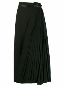 Prada pleated wrap skirt - Black