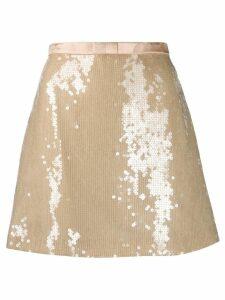 Miu Miu sequin A-line skirt - Pink