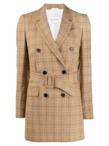 Calvin Klein check double-breasted blazer - Neutrals