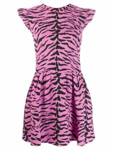 Saint Laurent zebra print dress - PINK