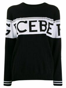 Iceberg knit logo print jumper - Black