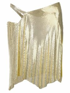 Fannie Schiavoni wrap-design chainmail skirt - Gold