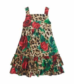 Leopard and Roses Dress with Bloomers