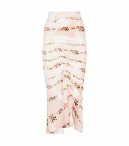 Tracey Ruched Midi Skirt