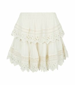 Broderie Anglaise Tiered Skirt