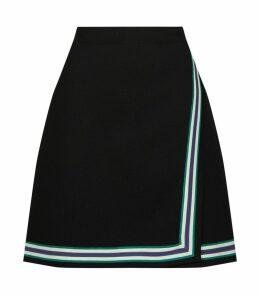 Stripe Knitted Mini Skirt
