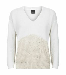 Two-Tone Knit Top