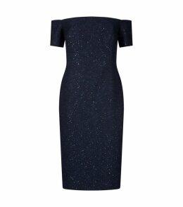 Tweed Off-The-Shoulder Dress