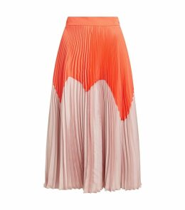 Ollyn Pleated Two-Tone Skirt
