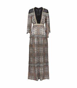 Silk Printed Maxi Dress