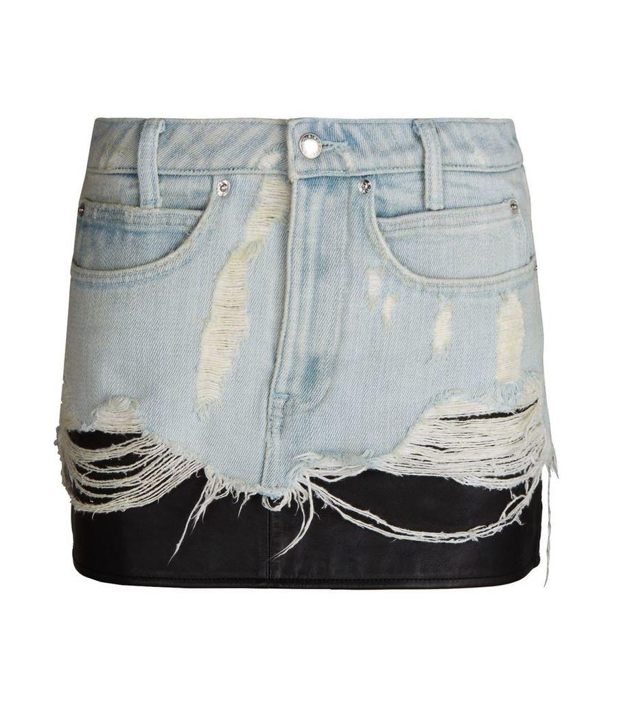 Hybrid Denim Skirt