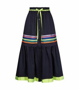 Ribbon Button Down Skirt