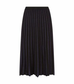 Klara Metallic Pleat Midi Skirt