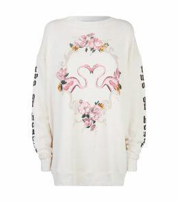 Two Of Hearts Flamingo Sweatshirt