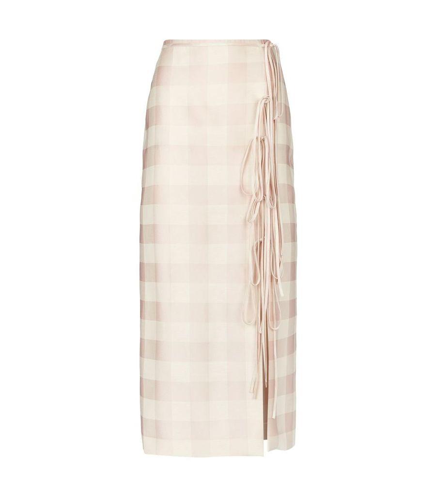 Oleandro Gingham Skirt