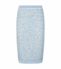 Shimmer Tweed Pencil Skirt