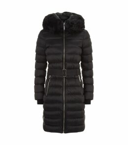Belted Mid-Length Puffer Coat