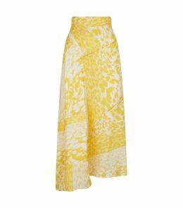 Silk Leopard Print Skirt