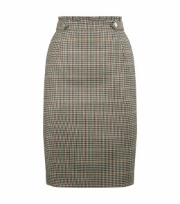 Houndstooth Check Skirt