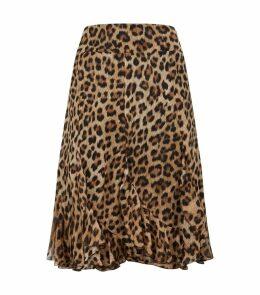 Leopard Print Ruffled Skirt