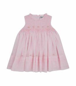 Smocked A-Line Dress