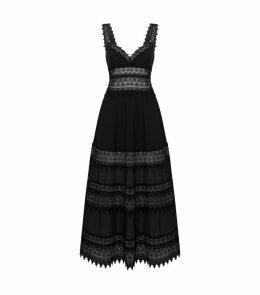 Sophia Lace Trim Maxi Dress