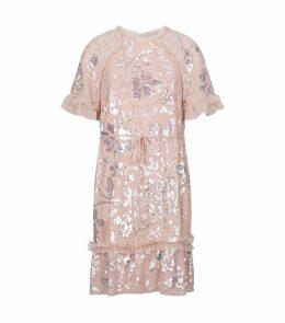 Floral Gloss Sequin Dress