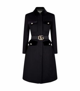 Tiger Button Belted Coat