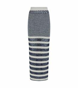 Sequin Mesh Stripe Skirt