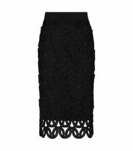 Guipure Lace Midi Skirt