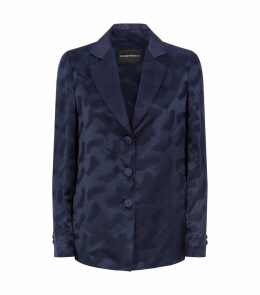 Jacquard Silk Blazer