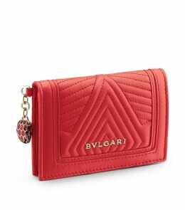 Leather Serpenti Forever Card Holder