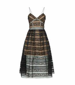 Floral Lace Panelled Dress