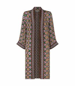 Miyoko Tile Print Kimono