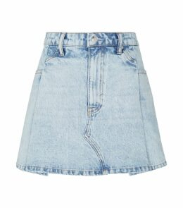 Denim Patch Mini Skirt