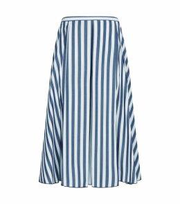 Cotton Striped Circle Skirt