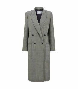 Zarena Wool Check Coat