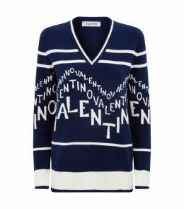 Logo V-Neck Sweater