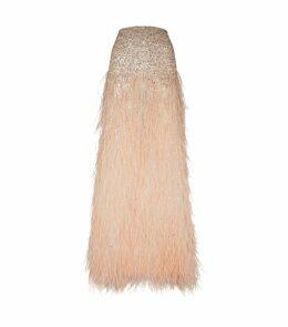Ashton Embellished Feather Skirt
