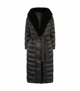 Reversible Mink Trim Down Coat